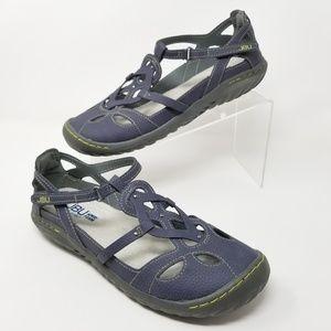 JBU by Jambu Ladies Sydney Flat Sandals Denim Blue